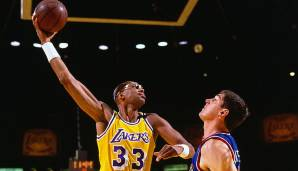 PLATZ 1: Kareem Abdul-Jabbar (1969-1989) - 38.387 Punkte in 1.560 Spielen - Milwaukee Bucks, Los Angeles Lakers.