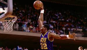 PLATZ 2: Karl Malone (1985-2004) - 36.928 Punkte in 1.476 Spielen - Utah Jazz, Los Angeles Lakers.