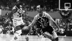 Platz 20: Bob Cousy - 6955 Assists in 924 Spielen - Celtics, Royals