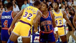 Platz 9: Isiah Thomas - 9061 Assists in 979 Spielen - Pistons