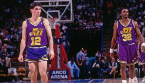 Platz 1: John Stockton - 15806 Assists in 1300 Spielen - Jazz
