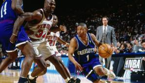 Platz 23: Muggsy Bogues - 6726 Assists in 889 Spielen - Hornets, Warriors, Raptors, Bullets