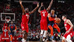 Platz 16: Russell Westbrook - 7129 Assists in 854 Spielen - Thunder, Rockets (Stand: 14.1.2020)