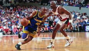 Platz 18: Tim Hardaway - 7095 Assists in 867 Spielen - Warriors, Heat, Mavericks, Nuggets, Pacers