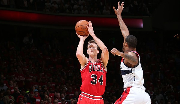 Platz 12: Mike Dunleavy - 8 Dreier (bei 10 Versuchen) - Bulls vs. Wizards 2014, Game 3