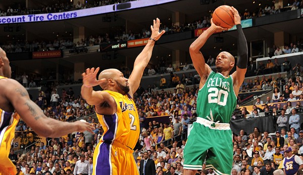Platz 15: Ray Allen - 8 Dreier (bei 11 Versuchen) - Celtics vs. Lakers 2010, Game 2