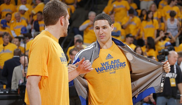 Platz 7: Klay Thompson - 8 Dreier (bei 9 Versuchen) - Warriors vs. Spurs 2013, Game 2