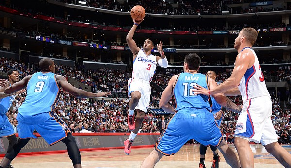 Platz 7: Chris Paul - 8 Dreier (bei 9 Versuchen) - Clippers vs. Thunder 2014, Game 1