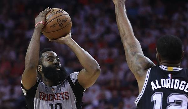 PLATZ 23: James Harden - 178 Dreier in 88 Spielen - Oklahoma City Thunder, Houston Rockets (Stand 23. Mai 2017)