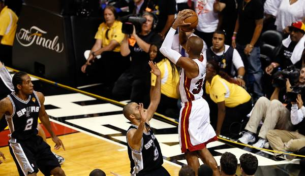 PLATZ 1: Ray Allen - 385 Dreier in 171 Spielen - Milwaukee Bucks, Seattle SuperSonics, Boston Celtics, Miami Heat