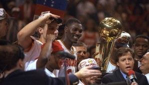 1994 & 1995: Hakeem Olajuwon - Houston Rockets - 4-3 vs. Knicks, 4-0 vs. Magic