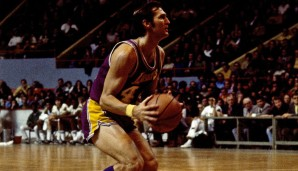 Jerry West (Los Angeles Lakers 1960-1974): 14 Saisons. Erfolge: NBA Champion (1972), Finals MVP (1969), 14x All-Star (1961-1974)