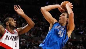 Dirk Nowitzki (Dallas Mavericks, 1998 bis heute): 20 Saisons. Erfolge: NBA Champion (2011), Finals-MVP (2011), MVP (2007), 13x All-Star (2002-2012, 2014, 2015)