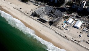 Beach Volleyball Arena an der Copacabana: Beachvolleyball - 12.000Plätze - 9.65 Millionen Euro - 2016