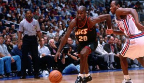 All-Time Scoring Leader: Gary Payton (Super Sonics) mit 18.207 Punkten
