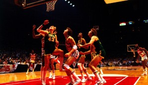 All-Time Rebounding Leader: Jack Sikma (#43) mit 7.729 Rebounds