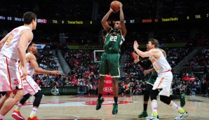 SG: Khris Middleton, Saison 2015/16: 18,2 Punkte, 4,2 Assists