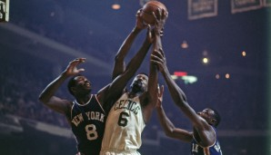All-Time Rebounding Leader: Bill Russell mit 21.620 Rebounds