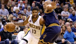 SF: Paul George, Saison 2015/16: 23,1 Punkte, 7 Rebounds, 4,1 Assists