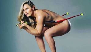 "Um ihr Buch ""Strong is the new beautiful"" zu promoten, lässt Ski-Königin Lindsey Vonn die Hüllen fallen"
