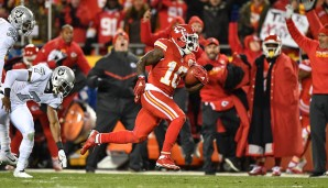 Return Specialist, AFC: Tyreek Hill, Kansas City Chiefs