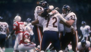 Platz 13: Super Bowl, Januar 1986: Chicago Bears - New England Patriots 46:10