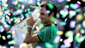 Roger Federer hat das Masters-Turnier in Indian Wells gewonnen