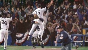 1996 - New York Yankees (4-2 gegen Atlanta Braves), MVP: Pitcher John Wetteland