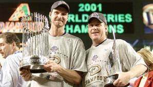 2001 - Arizona Diamondbacks (4-3 gegen New York Yankees), Co-MVP: Pitcher Randy Johnson und Curt Schilling