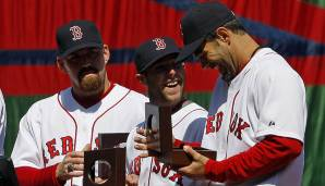 2007 - Boston Red Sox (4-0 gegen Colorado Rockies), MVP: Third Baseman Mike Lowell