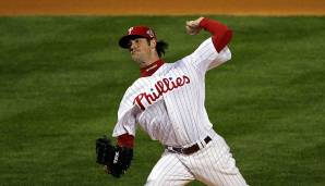 2008 - Philadelphia Phillies (4-1 gegen Tampa Bay Rays), MVP: Pitcher Cole Hamels