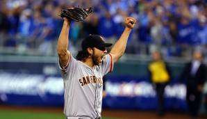 2014 - San Francisco Giants (4-3 gegen Kansas City Royals), MVP: Pitcher Madison Bumgarner