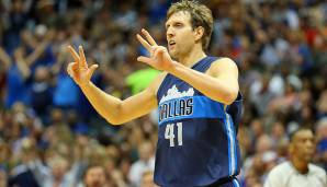 PLATZ 15: Dirk Nowitzki - 3.663 Punkte in 145 Spielen - Dallas Mavericks (Stand: 17. April 2018)
