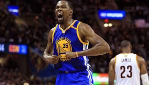 PLATZ 23: Kevin Durant - 3.104 Punkte in 108 Spielen - Oklahoma City Thunder, Golden State Warriors (Stand: 17. April 2018)
