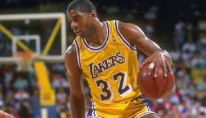 PLATZ 14: Magic Johnson - 3.701 Punkte in 190 Spielen - Los Angeles Lakers