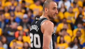 PLATZ 24: Manu Ginobili - 3.028 Punkte in 215 Spielen - San Antonio Spurs (Stand: 17. April 2018)