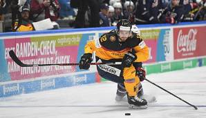 Brooks Macek in Aktion beim Deutschland Cup
