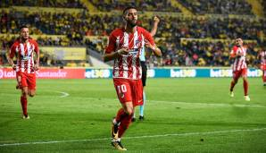 Platz 82: Yannick Carrasco (Atletico Madrid) - 85