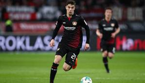 Platz 3: Kai Havertz (Bayer Leverkusen): 35,02 km/h