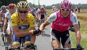 Lance Armstrong und Jan Ullrich in der Tour de France 2004