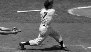 Platz 18: Mickey Mantle - 536 HR (1951-1968 für die New York Yankees)