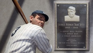 Platz 3: Babe Ruth - 714 HR (1914-1935 für die Boston Red Sox, New York Yankees, Boston Braves)