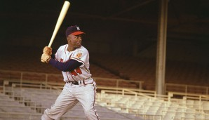 Platz 2: Hank Aaron - 755 HR (1954-1976 für die Milwaukee Braves, Atlanta Braves, Milwaukee Brewers)