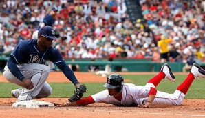 Mookie Betts (r.) gilt als Sinnbild für die Offensive der Boston Red Sox
