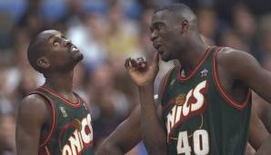 Platz 25: Seattle SuperSonics 1996/97 - Netrating: 8,7 - Aus im Western Conference Final gegen Houston (3-4)