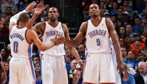 Platz 8: Oklahoma City Thunder 2012/13 - Netrating: 11,0 - Aus in den Conference Semifinals gegen die Grizzlies (1-4)