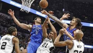 Platz 4: San Antonio Spurs 2015/16 - Netrating: 11,8 - Aus in den Conference Semifinals gegen die Thunder (2-4)