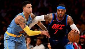 Platz 20: Carmelo Anthony (Denver Nuggets, New York Knicks, OKC Thunder): 9.035 Field Goals - Stand: 17.03.2018