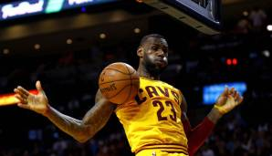 Platz 5: LeBron James (Cleveland Cavaliers, Miami Heat, Los Angeles Lakers, 2003 bis heute): 11.726 Field Goals – Stand: 3.3.2019