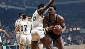 Platz 3: Wilt Chamberlain (Philadelphia/San Francisco Warriors, Philadelphia 76ers, Los Angeles Lakers, 1959-1973): 12.681 Field Goals